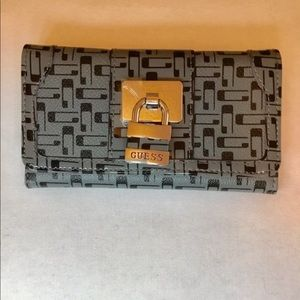 Guess grey trifold wallet